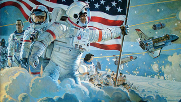 NASA Space Center Houston Mural - Pics about space
